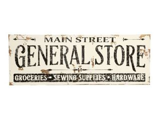 Farmhouse Sign Vintage General Store Design in White Retail 163 49
