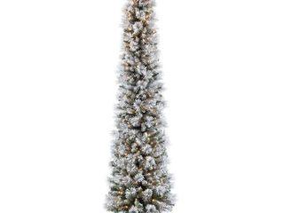 Puleo International 6 5 foot Pre lit Portland Pine Pencil Christmas Tree Retail 119 99