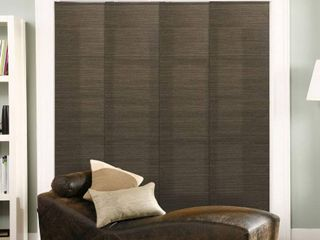 Chicology Adjustable Sliding Panel  Frontier   Natural Woven  Privacy  80 W X 96 H   French Oolong Retail 119 99