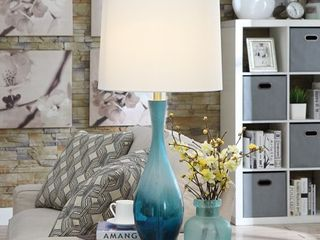 Jasmin Blue Glass 31 inch Table lamp Retail 122 99