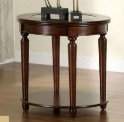 Furniture of America Nill Transitional Cherry Solid Wood End Table Retail 247 49