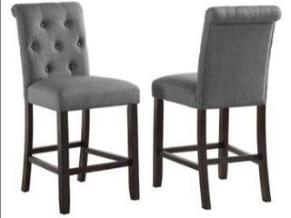 Copper Grove Solitude Tufted Armless Dining Chairs  Set of 2  Retail 169 99