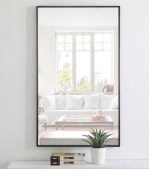 Carson Carrington Salsnas Metal Frame Rectangular Mirror Retail 158 49