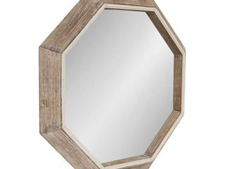 Kate and laurel Yves Octagon Wall Mirror   Natural   30x30 Retail 199 99