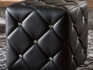 Contemporary Faux leather Ottoman by Baxton Studio