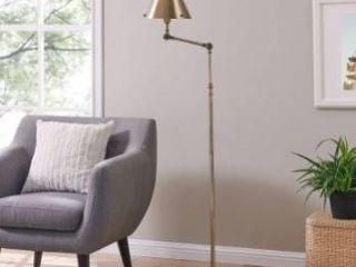Porch   Den Capulet Brushed Brass Finish Metal Adjustable Floor lamp Retail 139 99
