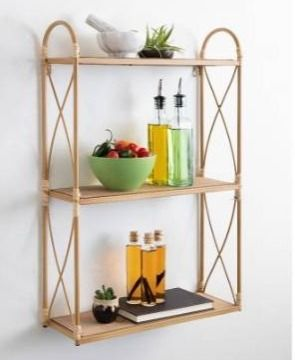 Kate and laurel Abella Tiered Wall Shelf   18x6x28 Retail 129 99