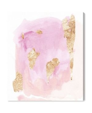 Oliver Gal  Pink Wednesdays  Abstract Wall Art Canvas Print   Pink  Gold Retail 78 98