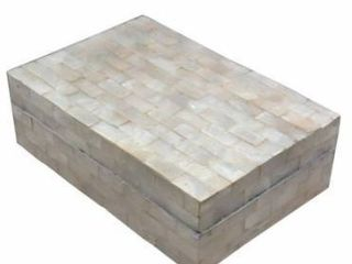 Handmade Capiz Oyster Shell Box with lid  Indonesia