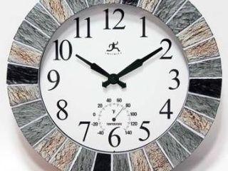 13  In Outdoor Faux Slate Clock