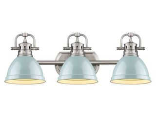 Golden lighting Pewter Seafoam Duncan Bath Vanity light Retail 208 00