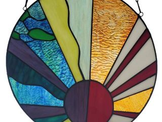 River of Goods 12 75 H Serenity Stained Glass Window Panel Retail 85 13