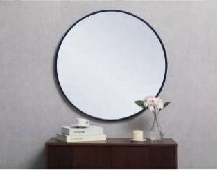 Carson Carrington labbemala Metal Frame Round Mirror Retail 115 49
