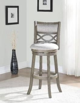 Manchester Antique Grey 24 inch Counter Stool with Fabric Seat Retail 138 05