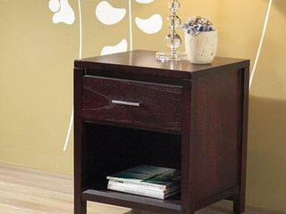 Tapered leg 1 drawer Nightstand Bar Pull with Power Strip Retail 245 99
