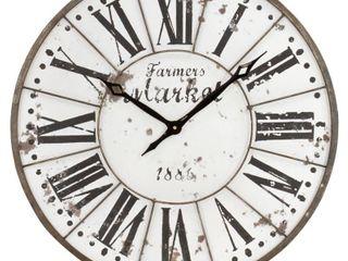 Monroy Rustic Farmhouse Wall Clock   24 H x 24 W x 2 D