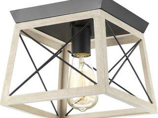 Briarwood Collection 1 light Graphite Flushmount Fixture