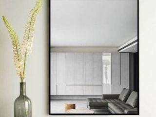 Modern Thin Frame Wall Mounted Hanging Bathroom Vanity Mirror Retail 128 99