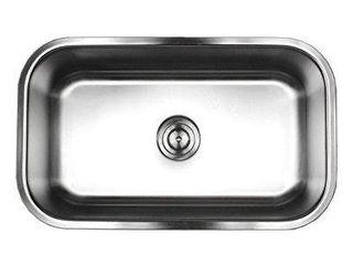 Brushed Satin 18 gauge Stainless Steel 30 inch Undermount Single bowl Kitchen with Sink Basket Strainer Retail 89 99
