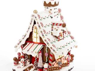 Kurt Adler 12 Inch lighted Christmas Gingerbread House   12  Retail 95 99