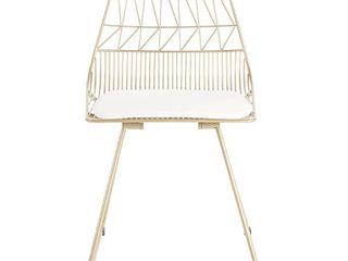 Adore Decor Vivi Metal Chair  Set of 2  Retail 222 49
