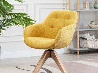 Swivel Armchair Fabric Accent Chair Dining Chair with Oak Wood legs Retail 158 49