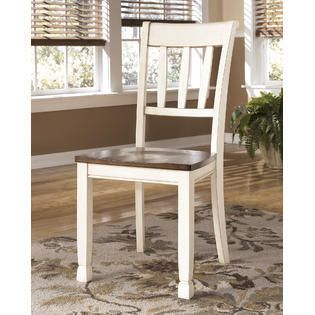 Whitesburg Dining Room Chair   Set of 2   Brown Cottage White Retail 144 68