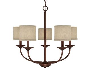 loft 5 light Burnished Bronze Chandelier Retail 139 99