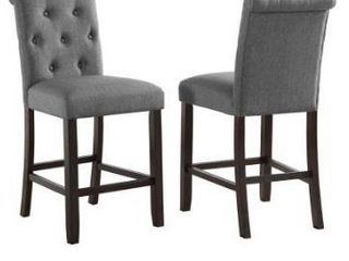 Copper Grove Solitude Tufted Armless Dining Chairs  Set of 2  Retail 183 00
