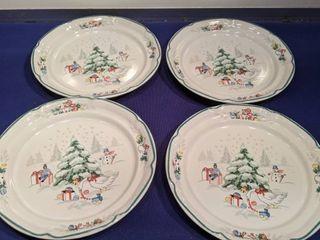 four piece Christmas salad plates inbox box