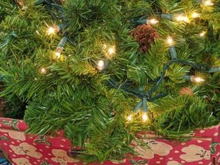 four 8 ft lighted garland