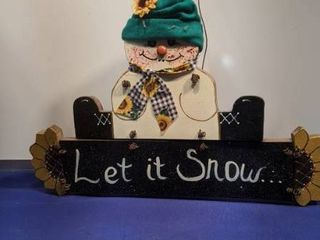 let it snow hanging sign
