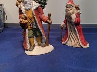 two saint Nick s figurines