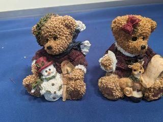 two bear figurines