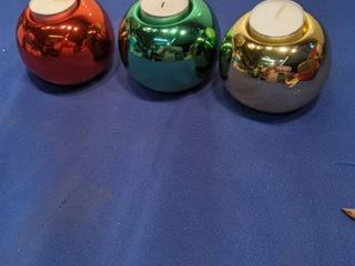 ball ornament candle holders