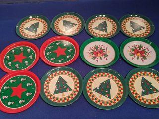 12 Christmas coasters