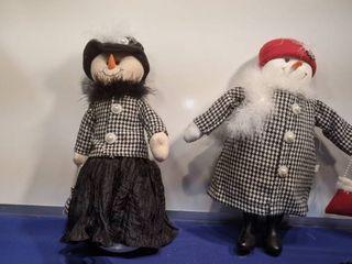two Mrs snowman