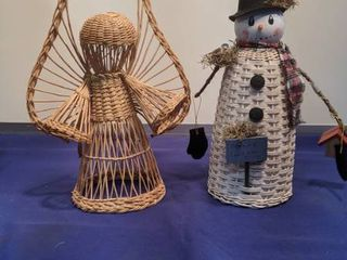 snowman and angel