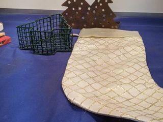 Christmas tree Candle holder Christmas basket and stocking