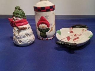 three snowman pieces