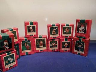 13 Hallmark handcrafted ornaments