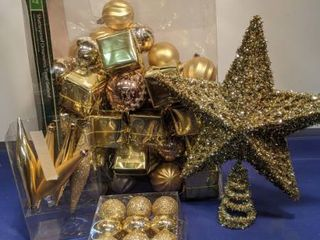 Christmas ornaments and star