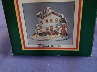 Christmas in the country college schoolhouse