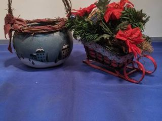 basket and sled