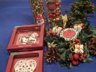 ornaments Garland candle ring and miniature tree