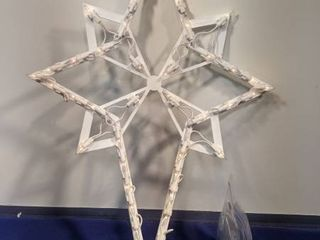 lighted nativity star lights up