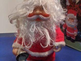 walking musical Santa needs batteries and tested