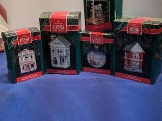 5 Hallmark keepsake ornaments  sweet star  from our home to yours and 3 others