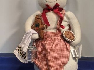 snowman in baking outfit