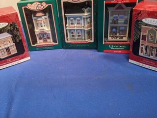 5 Hallmark ornaments  sweet shop  card shop  post office  cafe and grocery store